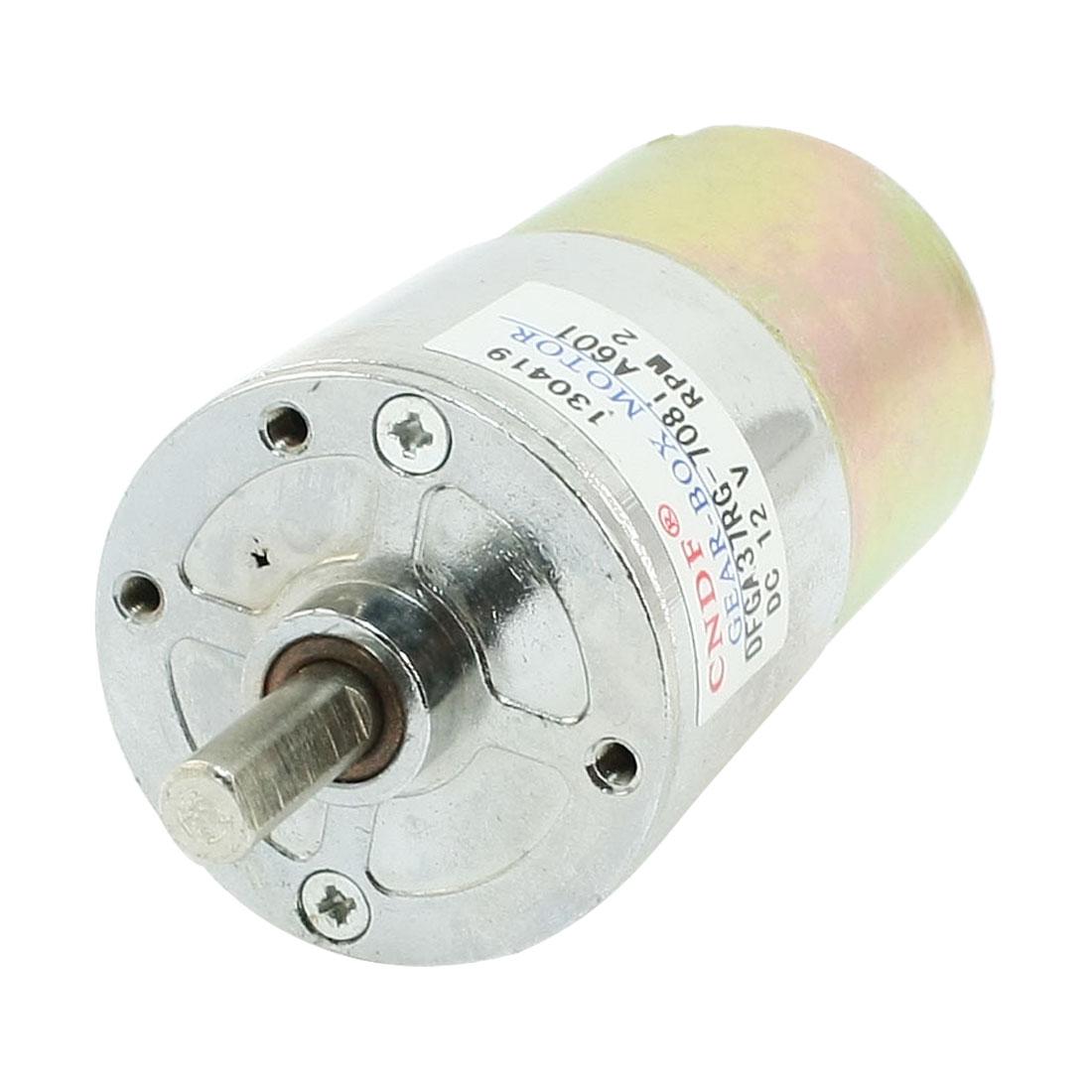 UXCELL Dfga37rg-708I Cylinder Shape  12V Speed 2 Rpm Geared Motor<br><br>Aliexpress