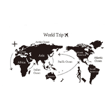 Creative Map Of World Trip Wall Vinyl Sticker Decals Decor Art Bedroom Design Mural for Living Room Decoration