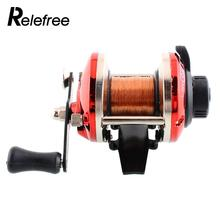 Relefree High Quality 9*7cm Right Handed Round Big Game Saltwater Fishing Trolling Reels With Line Trolling Carp Fishing(China)