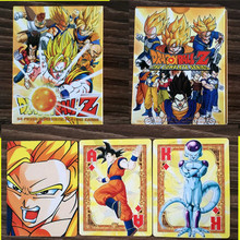 54 pcs/set Dragon Ball Action Figures Collection Poker Cards 3D Version  Color Box Packing Kid Gift Toy