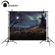 Allenjoy photography background Silent castle Horrible tombstones Halloween theme backdrop photo studio camera fotografica