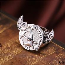 J Store Anime Parasitic Beast Logo Rings Angel Wings Rotatable Metal Ring Men Jewelry Environmental Accessories