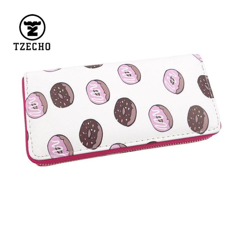 Fashion Zip-Around Womens Wallets Leather PU Print Lovely Cake Ladies Long Money Purses And Coin Pocket Card Holder Clutch Bag<br><br>Aliexpress