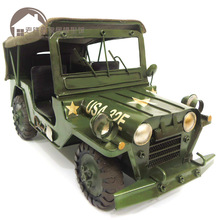 Brand New Car Model Toys World War II USA WILLYS JEEP Handmade Metal Artefact Car Model Toy For Collection/Gift/Decoration