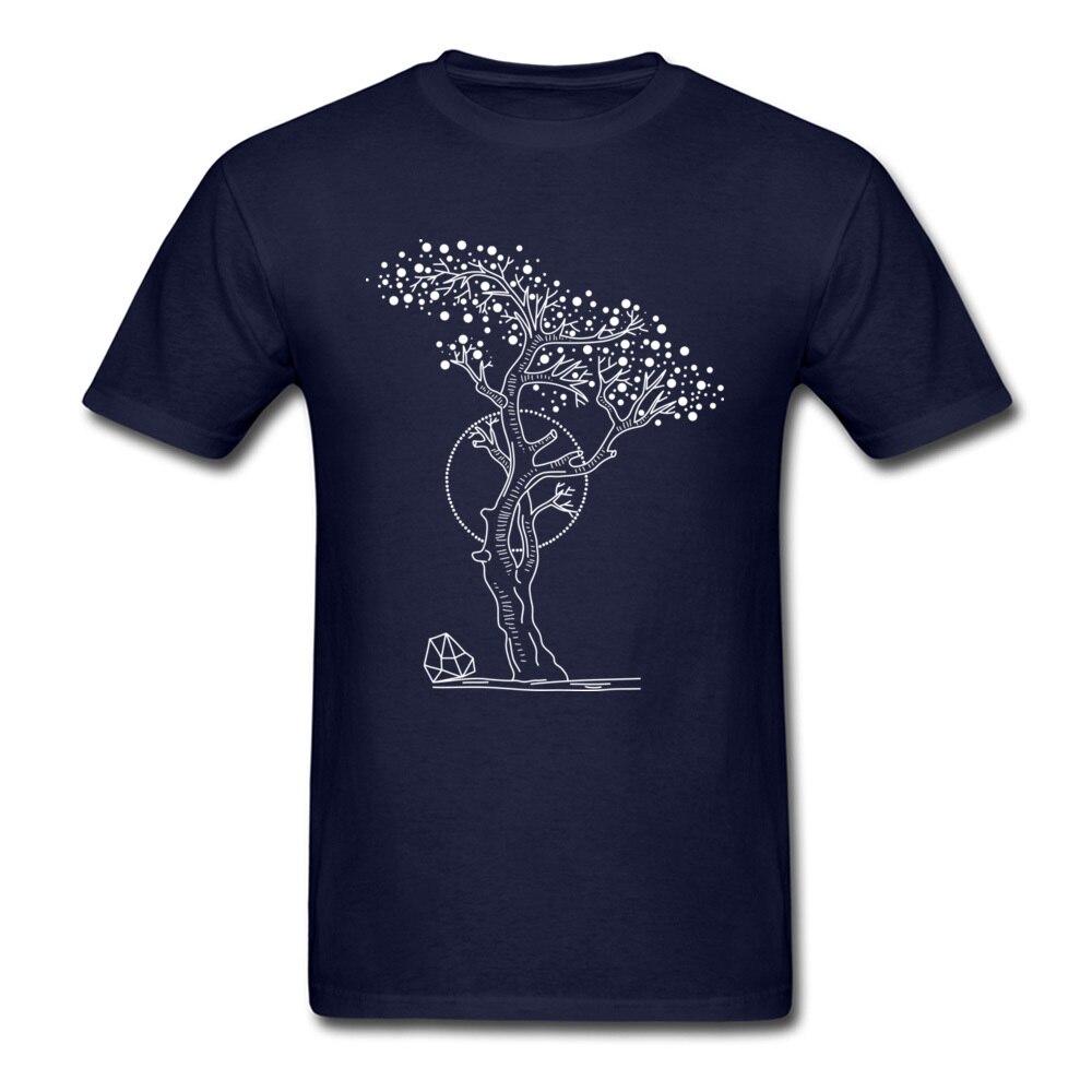 Pointilism Tree Life_navy