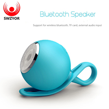 SWZYOR Waterproof Bluetooth Speaker Handsfree Super Mini Wireless Shower Speakers Support SD Card For iPhone Samsung Huawei