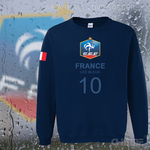 France nation team hoodies men sweatshirt sweat new 2017 streetwear socceres jersey footballer tracksuit French flag fleece FR