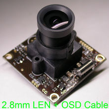 "2.8mm Wide angle LEN small size 32x32mm Effio-E 1/3"" Sony CCD ICX810/811 CCD +CXD4140 CCTV camera module chipboard +OSD cable"