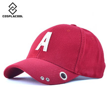 [COSPLACOOL] Autumn and winter letters A cap Corduroy couples baseball cap Snap fastener hole Baseball cap