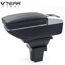 Vtear For Chevrolet Trax armrest box central Store content box products interior Armrest Storage Center Console accessory 14-17