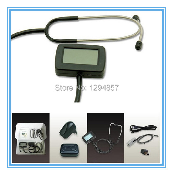 CONTEC CMS-M TFT 2.7 inch Multi Function Electronic Stethoscope ,Heart Rate ECG waveform + SPO2 function, Electronic Stethoscope<br><br>Aliexpress