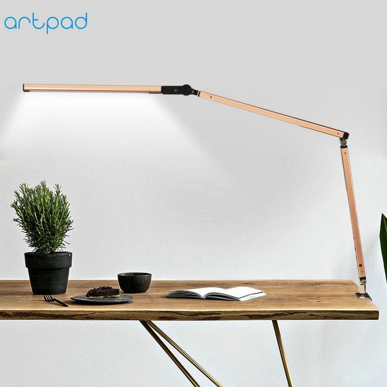 Artpad Energy Saving Modern LED Desk Lamp Dimmer Eye Care Swing Long Arm Business Office Study Desktop Light for Table Luminaire 2