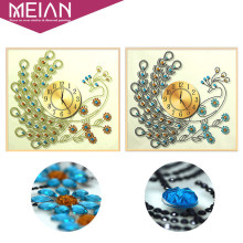 Meian,Special Shaped,Diamond Embroidery,Animal,Peacock,Clock,5D,DIY Diamond Painting,Cross Stitch,3D,Diamond Mosaic,Decor,Crafts(China)