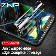 ZNP 3D Curved Soft Protective Film For Samsung Galaxy S8 S8 Plus Note 8 Screen Protector Film For Samsung S7 S6 Edge (Not Glass)(China)