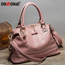 Free Shipping Hot Sale Women Leather Handbags Shoulder Crossbody Bags Genuine Leather Bag Bolsas Pink Black Blue S178