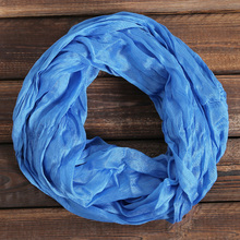 New Fashion Unisex Womens Ladies Men's Winter Circle Loop Cowl Infinity Scarf Snood Hijab Foulard Sjaal Scarves Wraps WJ8053(China)