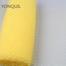 25CM Yellow Birdcage veil netting Veiling Millinery Hat Veil Fabric For Women Fascinator base material Headpiece cap 10yard/lot(China)