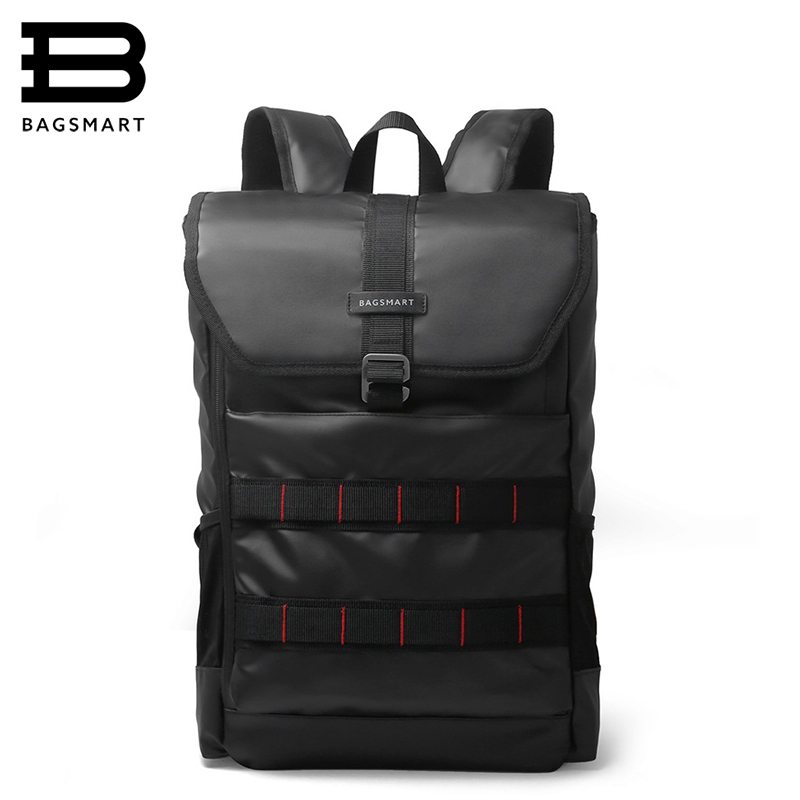 BAGSMART 2017 New Men Laptop Backpack 15.6 Inch Laptop Bag Travel Rucksack Waterproof Oxford School Backpacks For Teenagers<br>