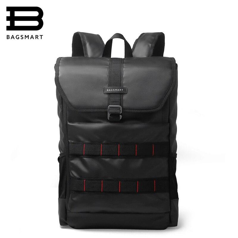 BAGSMART 2018 New Men Laptop Backpack 15.6 Inch Laptop Bag Travel Rucksack Waterproof Oxford School Backpacks For Teenagers<br>