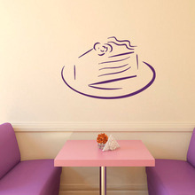 Sweet Cake Birthday Pie Wall Stickers Kitchen Cafe Home Interior Design Vinyl Decal Sticker Kids Baby Room Decor Wall Decals