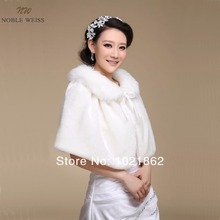 Faux Fur Ribbon Winter Wedding Bridal Shawl Shrug Cape Stole Wraps Coat  AL0011