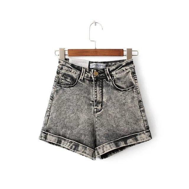 2017 Summer New Style Women Fashion High Waist Slim Short Jeans, Femlae Vintage Brand Casual Hot Pants Stretch Denim ShortsОдежда и ак�е��уары<br><br><br>Aliexpress