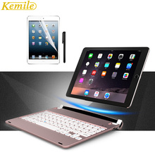 Kemile For ipad pro 9 .7 Cover Wireless Bluetooth Keyboard Folios Case Cover For Apple iPad Air 2  iPad Pro 9.7