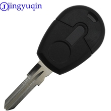 jingyuqin 1 Button Car-Styling Remote Car Key Shell Case For Fiat Transponder Car Key Shell Blank Case Cover No Chip Fob No Logo