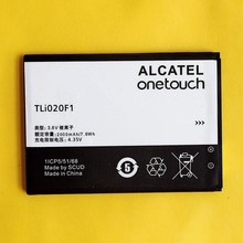 CUUSEY Original Mobile Phone Battery TLi020F1 For TCL J720T J726T Alcatel One Touch Pop 2 5042D C7 7040 High Quality 2000mAh(China)