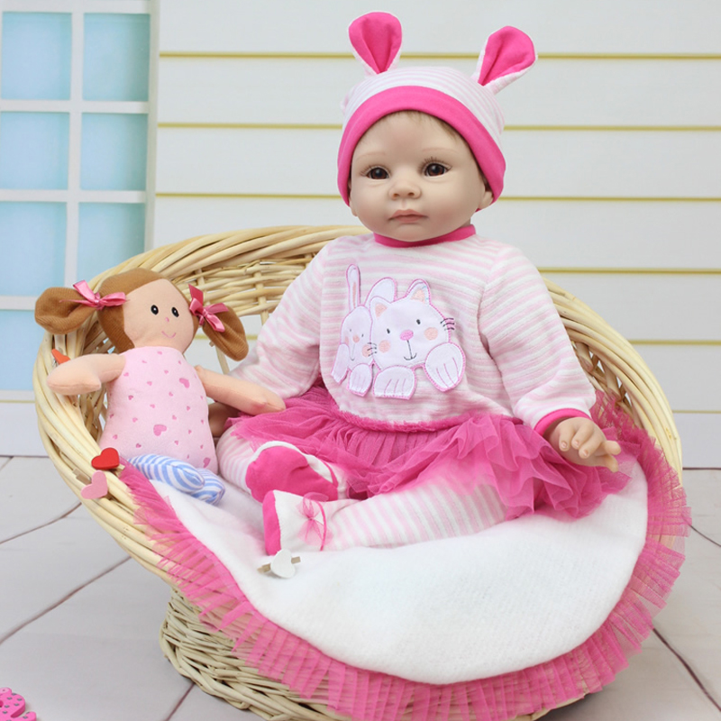 50-55cm Silicone Vinyl Reborn Baby Dolls Handmade Gentle Touch Realistic Lifelike Play House Training Education Toys Best Gift<br><br>Aliexpress