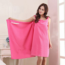 Sexy Wearable Microfiber Fabric Fast Drying large bath towels Soft and thick ladies bathrobes Home Textile(China)