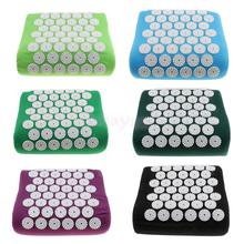 Spike Acupressure Massage Pillow Acupuncture Yoga Shoulder Neck Head Muscle Stress Relief Cushion Black Purple Blue Green