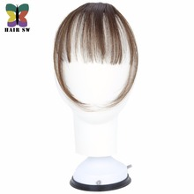 HAIR SW Fake Long Blunt Bangs Mini Clip-In Hair Extension Synthetic False Hair piece Fringe Seamlessly Natural clip On For Woman(China)