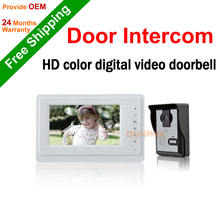 "Big Sale! 7"" TFT LCD Color Video Doorphone Doorbell Intercom System with IR Camera Night Vision for Villa Home Apartment"