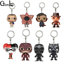 GonLeI Funko Pop marvel avengers super heroes harry potter Dragon Ball Wonder Woman keychain  Action Figure Toys