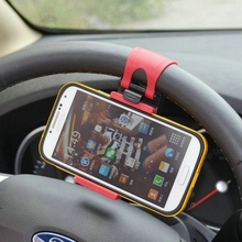 Car Steering Wheel Phone Socket Holder for Xiaomi Mi6 Mi Note 3 Mix 2 Redmi 4X Note 5A Pro for iPhone X 8 M5S Honor 6X M6 Note(China)