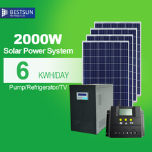 2000W solar renewable energy/solar power system for home supply free energy,MPPT solar electric high efficiency green energy