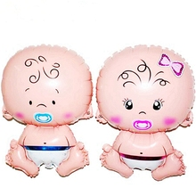 Lovely Angel Pacifier Baby Boy Girl Foil Balloons Baby Shower Birthday Party Decoration Helium Balloon kids Appease sleep dolls