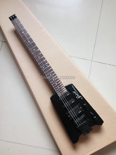Hot sale steinberger spirit electric guitar without headstock, matte color one piece guitar. Support wholesale  Chinese factory