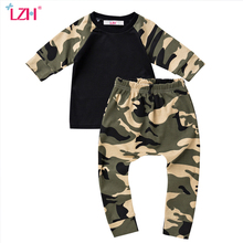 LZH Newborn Baby Boys Clothes Set 2017 Autumn Baby Girls Clothes T-shirt+Pants 2pcs Baby Set Outfits Suit Infant Clothing Sets