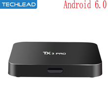 TX3 Pro Quad Core Android M TV Box Network wifi Media Player S905X Smart ott Set Top Box 1GB 8GB Airplay HDMI 4k CODE