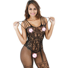 Buy Black Women Sexy Pantyhose Open Crotch Nylon Stockings Crotchless Fishnet Sheer Body Dress Lingerie Sexy Bodystocking U