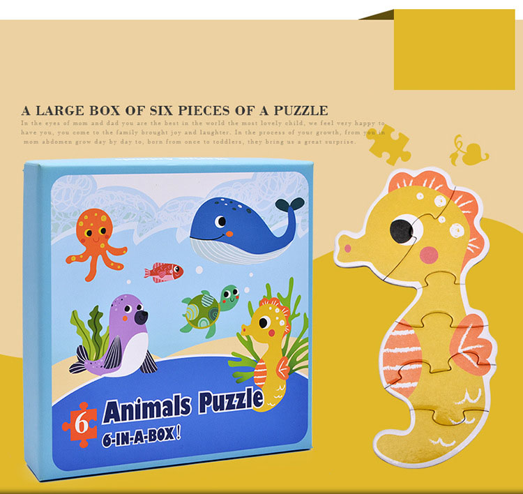 Baby Toys Cartoon Animal Paper Children Puzzle Children early learning Montessori education toys Puzzle for children 3 years 5