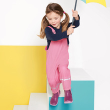 Mioigee 2017 New Children Pants Baby Girls Outdoor Rain Warm Winter Trousers Boy PU Waterproof Pants for 12M-8T(China)