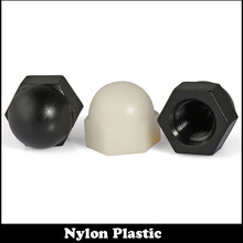 M8 M10 M12 DIN1587 Black White Nylon Plastic Metric Decorative Nuts Hexagon Hex Insulation Dome Cap Acorn Nut