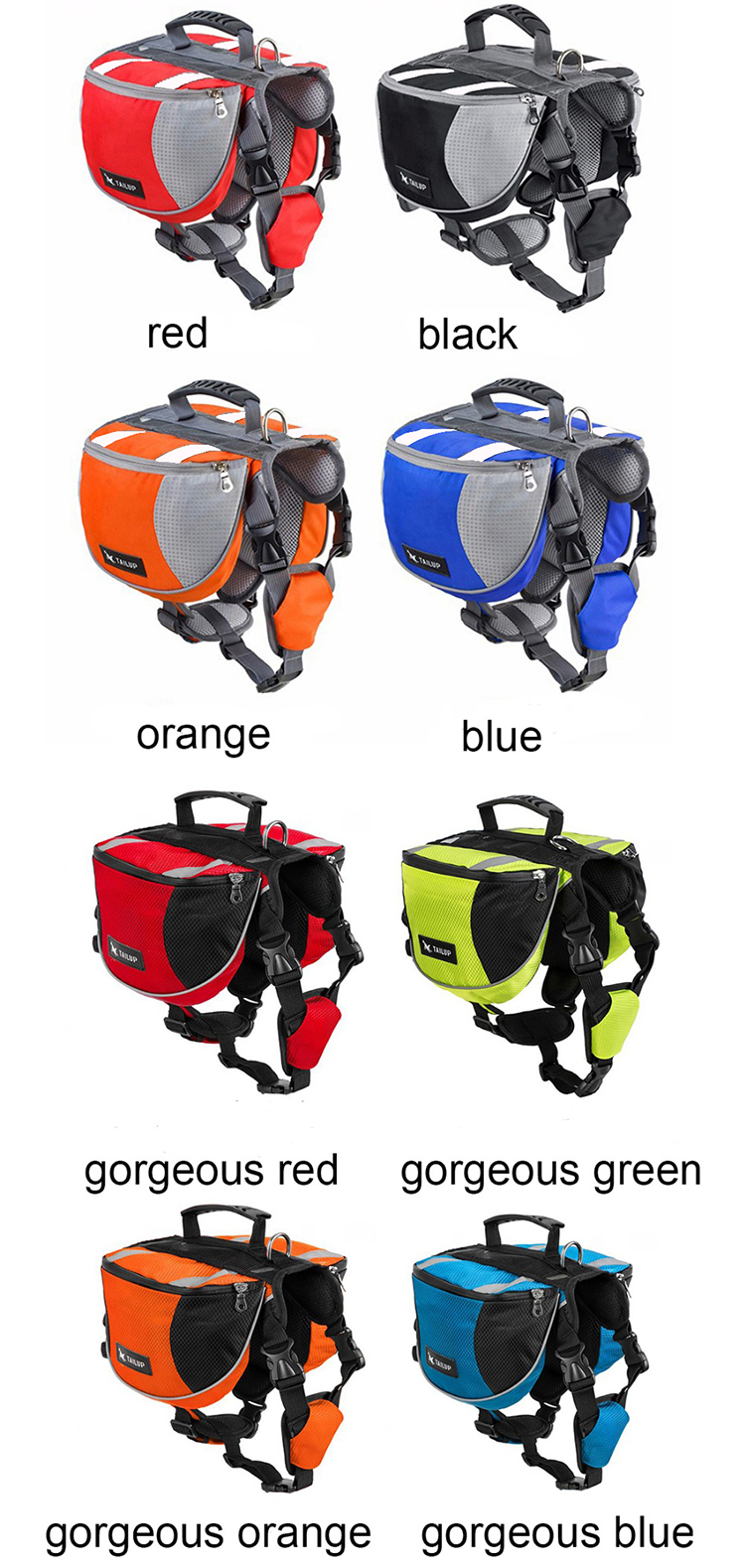 Dog Saddle Bag With Free Gift ,the color of gift leash send in random | DogsMall-International