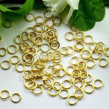 free shipping!!! 3/4mm Nickel Free Lead Free Jump rings Connector Jewelry Findings(China)