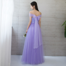 violet multi way convertible bridesmaid dresse lavender dresses light purple beach dress tulle ball gown for wedding S3736