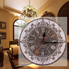 Hot selling Vintage France Paris Colourful French Country Tuscan Style Paris Wood Wall Clock Hight Quality Wholesale