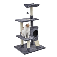 H103 Cat Toy Scratching Wood Climbing Tree with Bowl Cat Scratching Post Toy Climbing Frame Cat Furniture